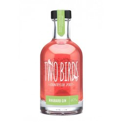Two Birds English Rhubarb Gin (20cl, 40% ABV)