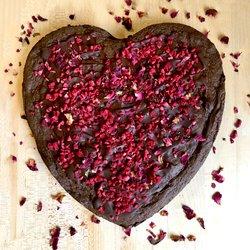 Giant Heart-shaped Chocolate Brownie