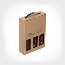 Honey Ale Gift Set by Hiver Beers - Includes 3 Bottles of Brown Honey Ale 330ml 4.5% ABV