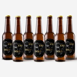 12 x Eko Gold Craft Lager 300ml 4.9% ABV - African Inspired Vegan Beer by Eko Brewery