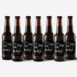 12 x Eko Black Smoked Porter 330ml 5.0% ABV - African Inspired Vegan Beer by Eko Brewery