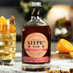 Honey Spiced Keepr's Rum 70cl 37.5% ABV
