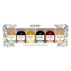 Flavoured Gin Miniatures Gift Set - Honey Gin & Honey Vodka Gift Selection by Keepr's (Includes 6 5cl Bottles)