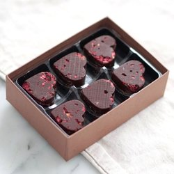 Vegan Raspberry & Dark Chocolate Heart Shaped Truffles