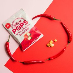 Plant Pops Popped Lotus Seeds - Smoked Chilli Flavour 20g (24 Bags)