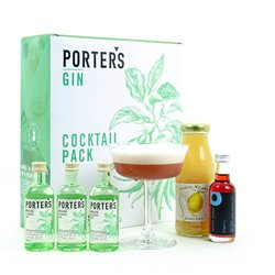Clover Club Cocktail Gift Set with Porter's Gin