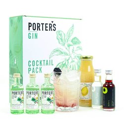 Tropical Bramble Cocktail Gift Set with Porter's Gin