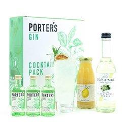 Elderflower Collins Cocktail Gift Set with Porter's Gin