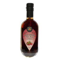 Sour Cherry Palinka Liqueur 500ml 34% ABV - Fruit Liqueur with Honey