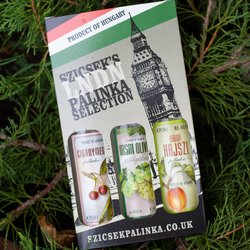 Hungarian Palinka Gift Set - 3 Mini Bottles of Premium Palinka (Fruit Brandy)