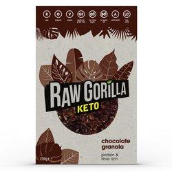 Raw Gorilla Chocolate Keto Granola 250g - High Protein Granola - 2 Boxes (Vegan, Organic & Gluten Free)