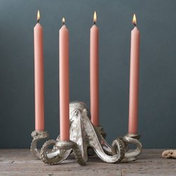 Silver Octopus Candle Holder - Octopus Candelabra
