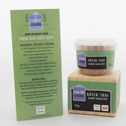 Green Thai Curry Spice Pot by Case for Cooking 52g - Makes 10 Servings