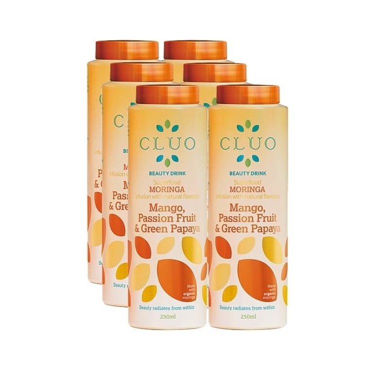Mango, Passion Fruit & Green Papaya Moringa Drink 6 x 250ml