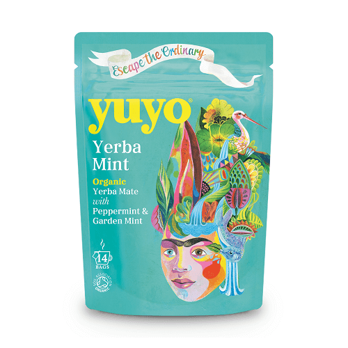 Yerba Mate Mint Tea with Peppermint 14 Tea Bags by Yuyo (Organic)