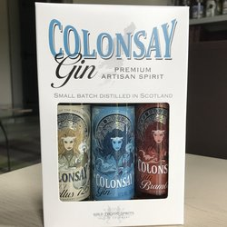 Colonsay Gin Triple Presentation Pack 3 x 100ml Mini Gin Bottles