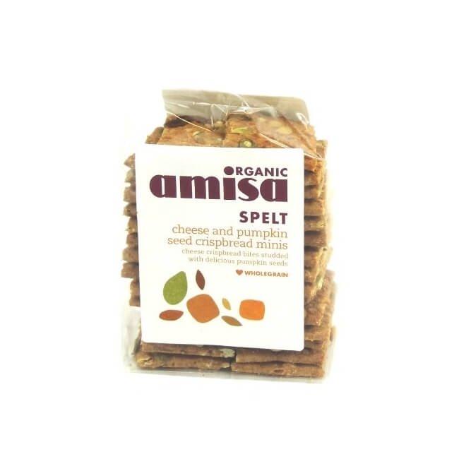 Organic Spelt Mini Crispbread Cheese & Pumpkin Seed 200g