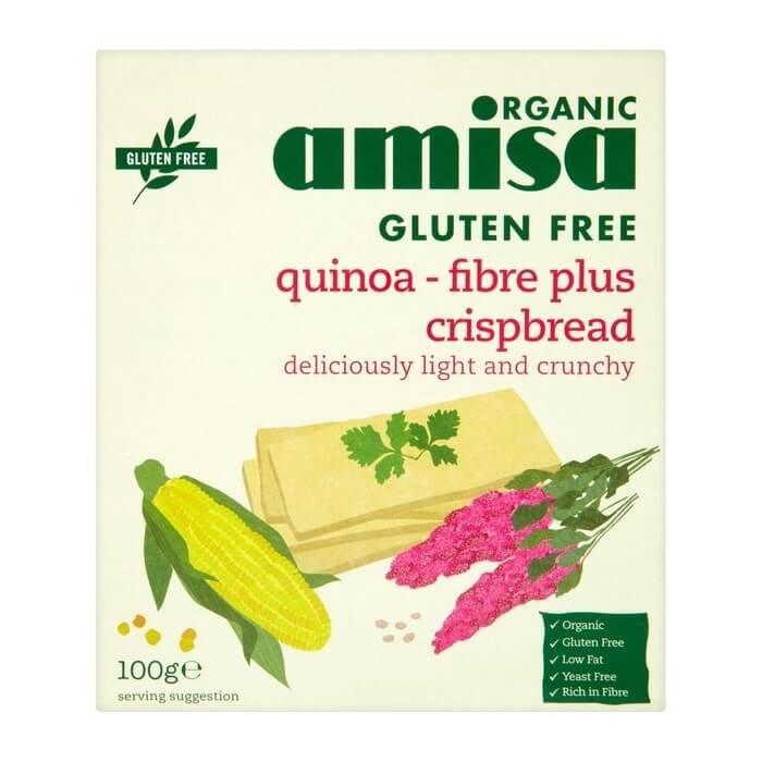 Gluten-Free Organic Quinoa Fibre Plus Crispbread 100g