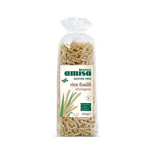 Gluten-Free Organic Wholegrain Rice Fusilli Pasta 500g