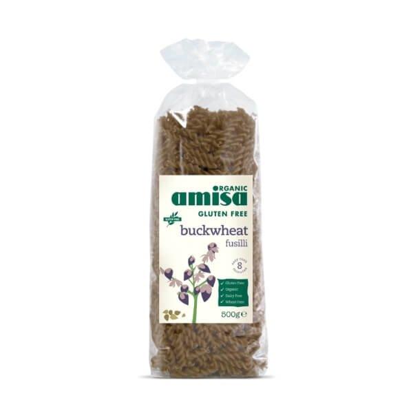 Gluten-Free Organic Pure Buckwheat Fusilli Pasta 500g