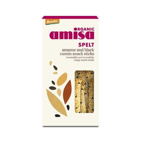 Organic Spelt Sesame & Black Cumin Snack Sticks 150g