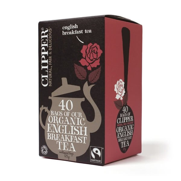 Clipper Organic English Breakfast Tea 40 Tea Bags