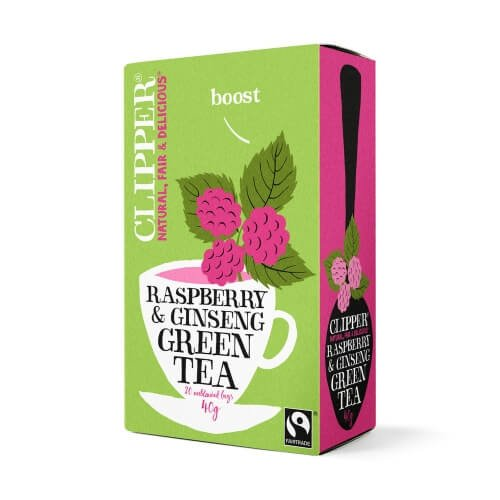 Clipper Fairtrade Green Tea with Ginseng 20 Tea Bags