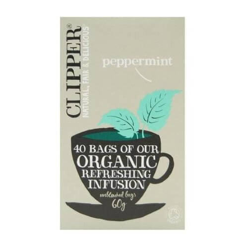 Clipper Organic Infusion Peppermint Tea 40 Tea Bags