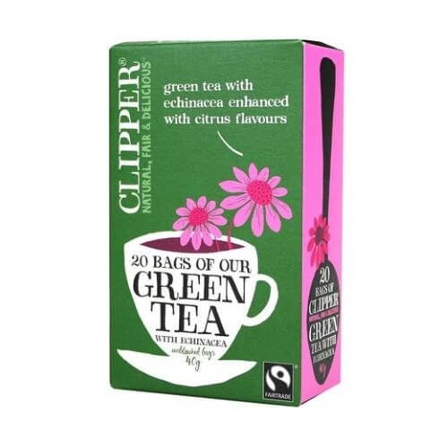Clipper Organic Green Tea with Echinacea 20 Tea Bags