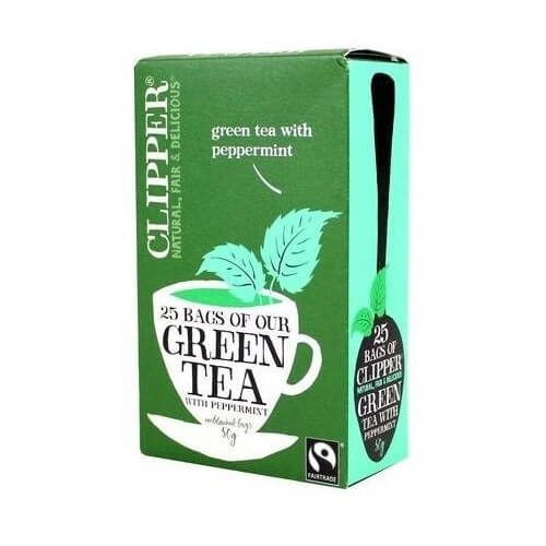 Clipper Fairtrade Green Tea with Peppermint 25 Tea Bags