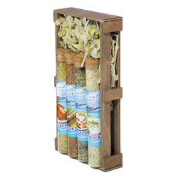 Greek Seasonings Gift Set - 4 Greek Seasoning Mixes in Glass Tubes