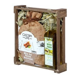 Greek Olive Oil & Gyros-Souvlaki Seasoning Mix Gift Set