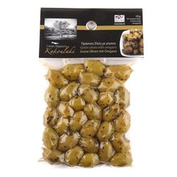 Green Olives with Oregano 220g
