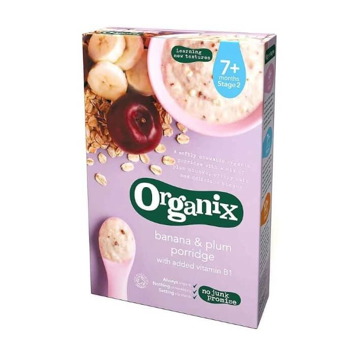 Organic Banana & Plum Porridge Stage 2 Baby Food 200g