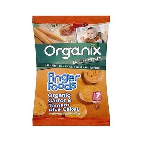Organic Carrot & Tomato Wholegrain Rice Cakes 50g