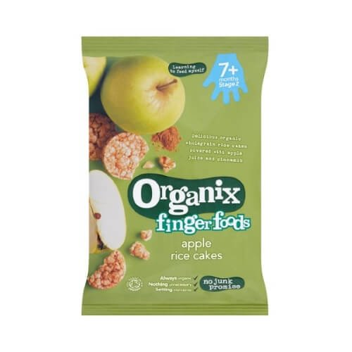 Organic Apple Wholegrain Rice Cakes 50g