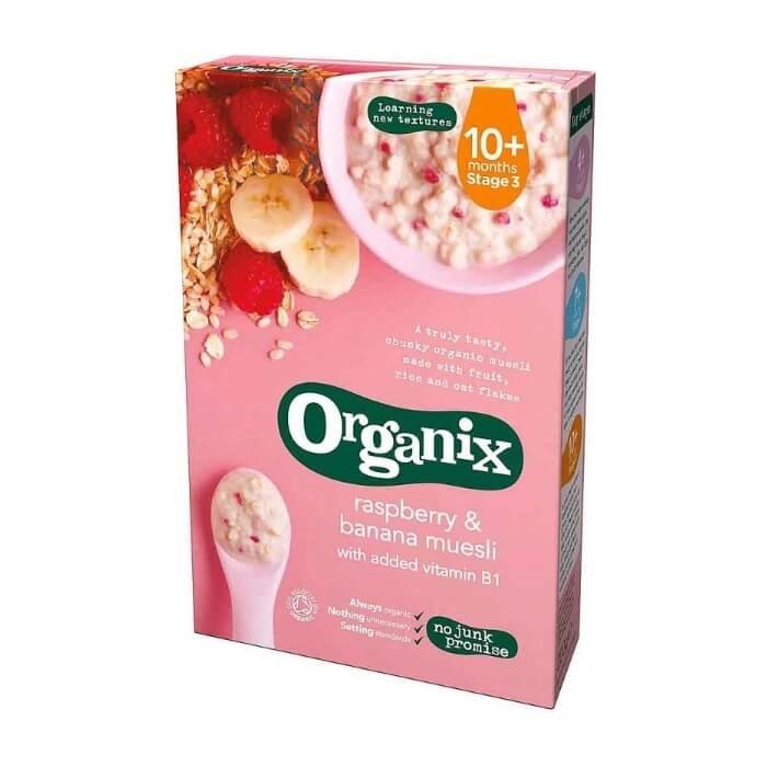 Organic Raspberry & Banana Muesli Stage 3 Baby Food 200g