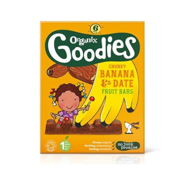 Organic Goodies Chunky Date & Banana Fruit Bars 6 x 17g