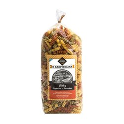 Greek Tomato & Spinach Fusilli Pasta - Dried Fusilli Tricolore 500g
