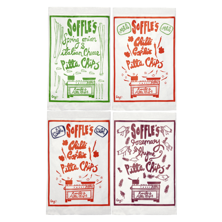 Pitta Chips Variety Pack 16 x 60g by Soffle's