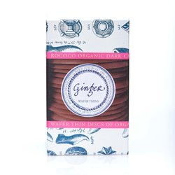 Ginger Chocolate Thins - Organic Dark Chocolate Thins by Rococo Chocolate 150g