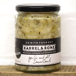 2 x Garlic & Dill Sauerkraut by Barrel & Bone 475g
