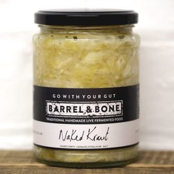 2 x Naked Sauerkraut by Barrel & Bone 475g