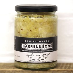 2 x Apple & Ginger Sauerkraut by Barrel & Bone 475g