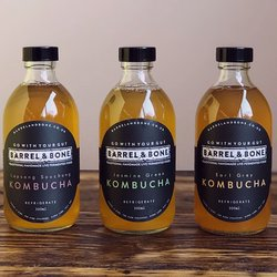 Mixed Kombucha Set by Barrel & Bone inc. Jasmine Green Kombucha, Earl Grey Kombucha & Lapsang Souchong Kombucha 6 x 300ml