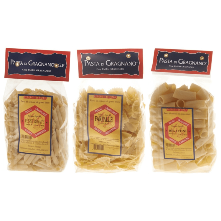 Short Pasta Pack - Penne, Farfalle & Rigatoni 3 x 500g
