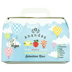 Vegan Marshmallows Gift Box by Anandas - Vanilla, Raspberry & Caramel Marshmallows Selection