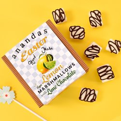 Easter Marshmallows Gift Box - Lemon & Lime Vegan Marshmallows by Anandas 80g