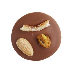 Caramelised Pistachio, Almond & Candied Orange Milk Chocolate Mendiants 150g