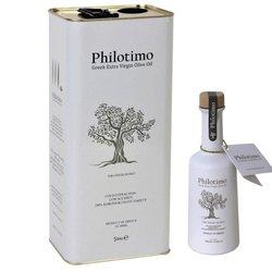 Extra Virgin Koroneiki Olive Oil - 5ltr Tin & 250ml Bottle Set - Premium Greek Cold-pressed Olive Oil
